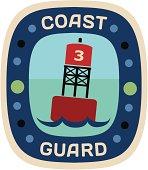 Coast Guard travel sticker or luggage label