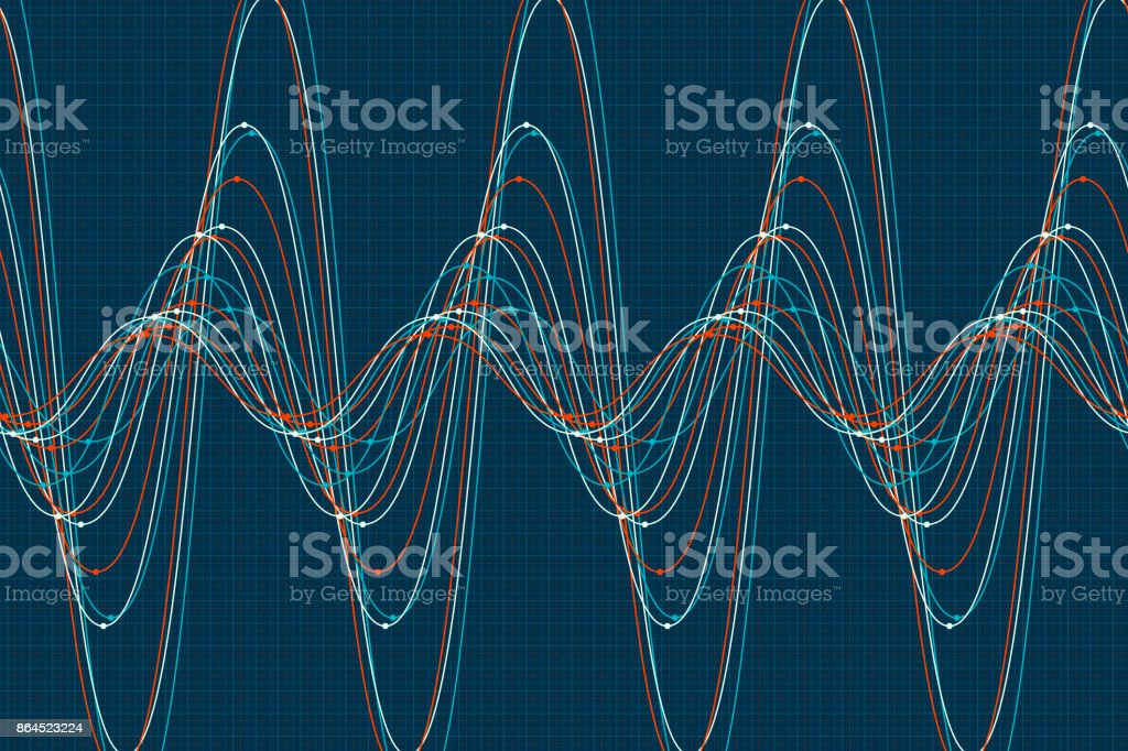 Coast Sine Wave Line Pattern Horizontal vector art illustration
