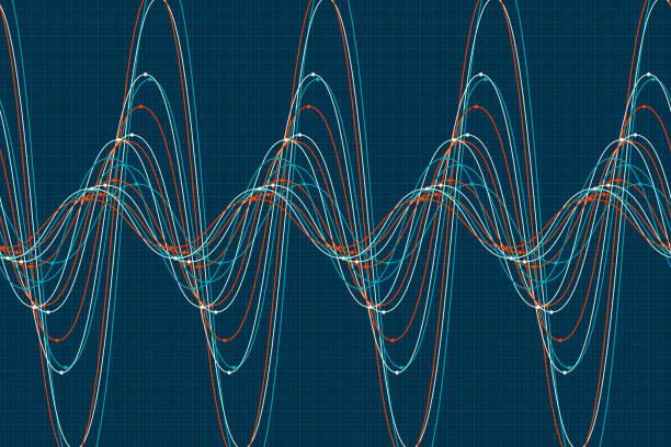 coast sine wave line pattern horizontal - sine wave stock illustrations