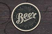 手描きのレタリング ビール コースター