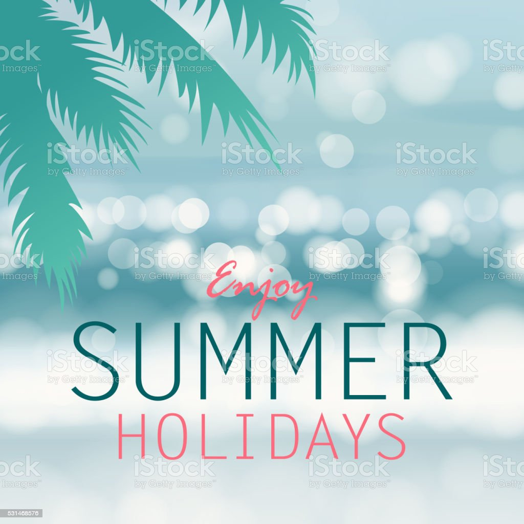 Coastline Background For Summer Holidays vector art illustration