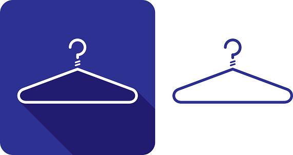 Coat Hanger Icon Silhouette 2
