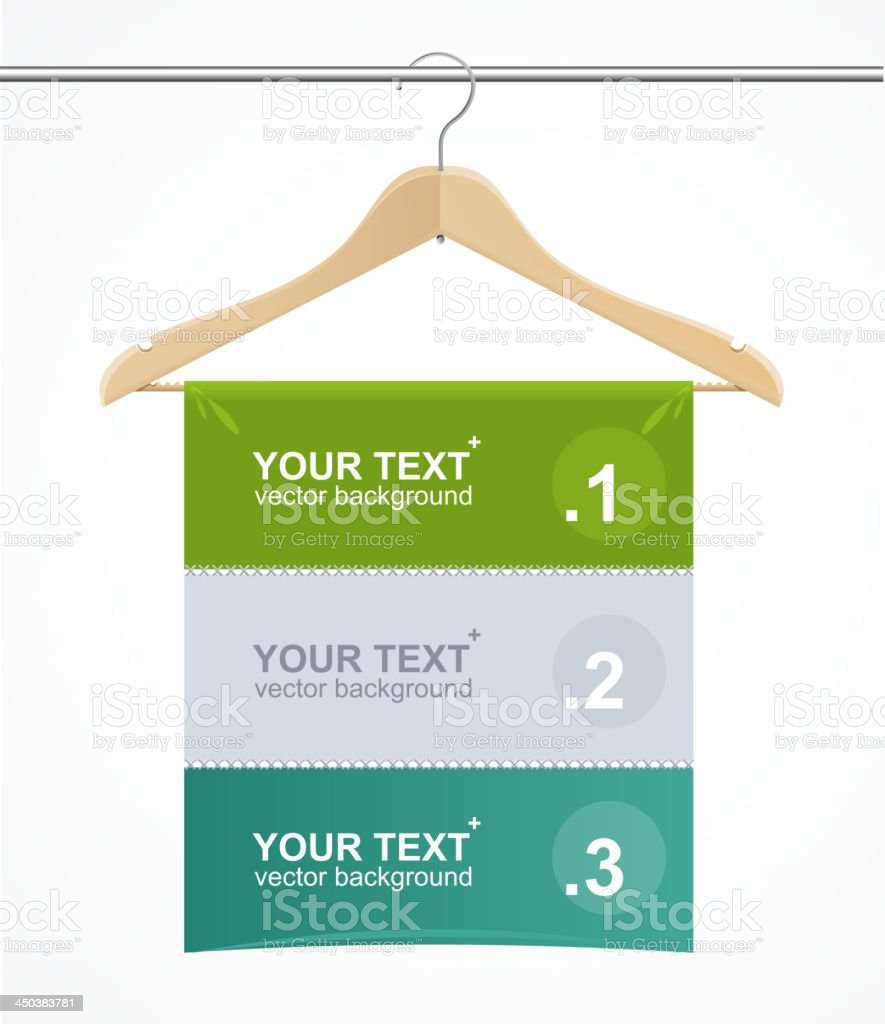 Coat hanger wood like text headers. royalty-free coat hanger wood like text headers stock vector art & more images of backgrounds