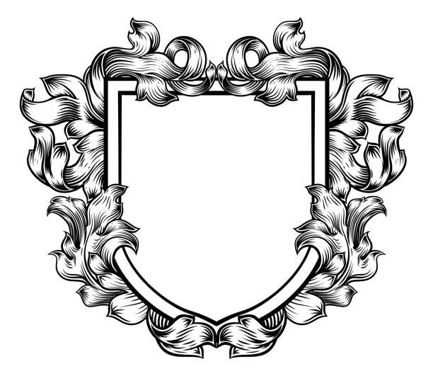 wappen wappen familie ritter heraldischen schild - wappen stock-grafiken, -clipart, -cartoons und -symbole