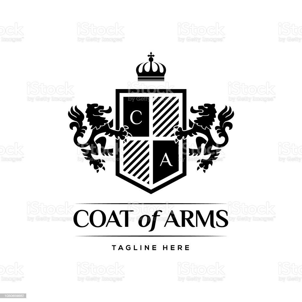 Coat Of Arms Heraldic Luxury Design Concept vector art illustration