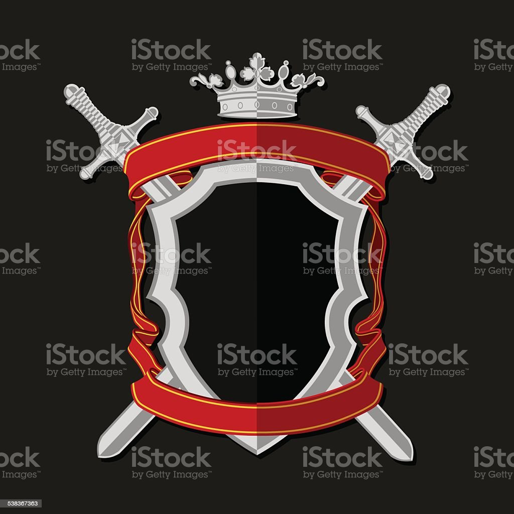 Coat of arms in modern flat style vector art illustration