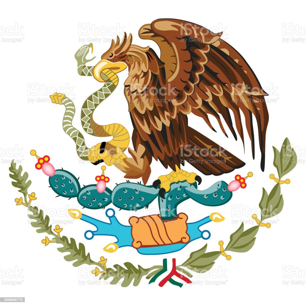 Coat Of Arms Mexico Stock Vector Art More Images Of City 856659770