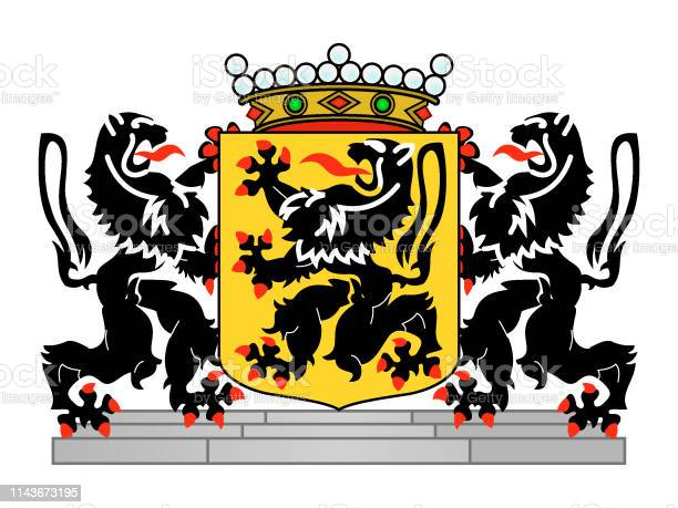 Vector Illustration of the Coat of Arms of Belgian Province of East Flanders