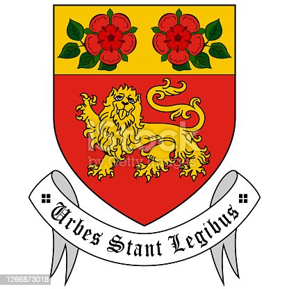 istock Coat of arms of City Athlone of Ireland 1266873018