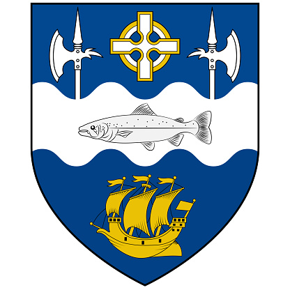 Coat of arms of City Ballina of Ireland