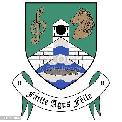 istock Coat of arms of City Castleblayney of Ireland 1267481332