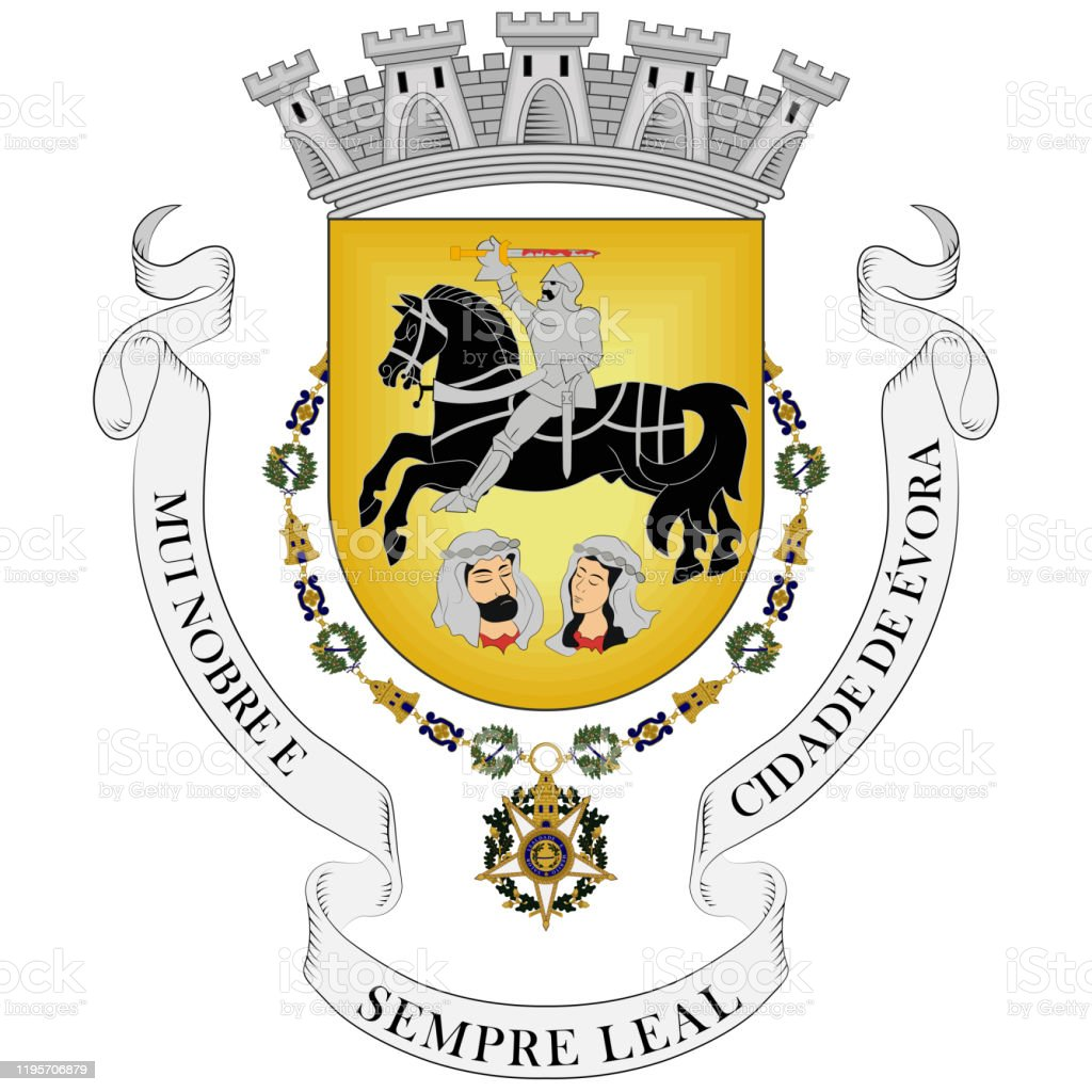 Coat Of Arms Of Evora In Portugal Stock Illustration Download Image Now Istock