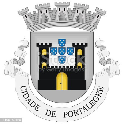 istock Coat of arms of Portalegre District in Portugal 1190182420