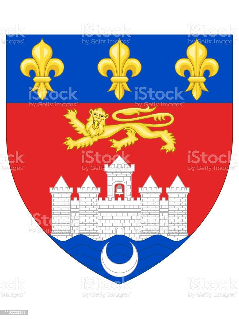 Wappen Der Französischen Stadt Bordeaux Stock Vektor Art und