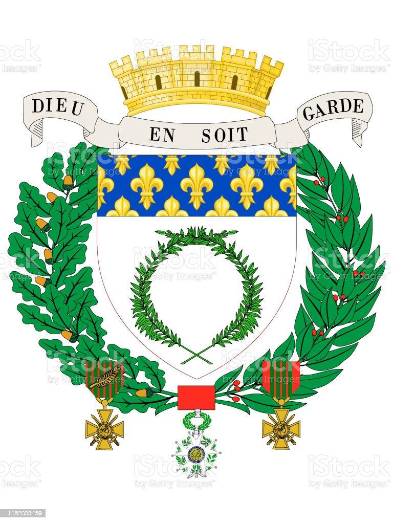 Wappen Der Französischen Stadt Reims Stock Vektor Art und