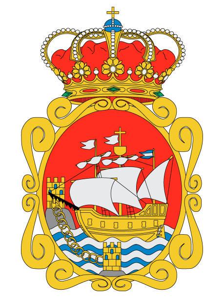 wappen der spanischen stadt aviles - alicante stock-grafiken, -clipart, -cartoons und -symbole