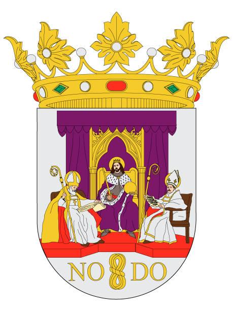 wappen der spanischen stadt sevilla - alicante stock-grafiken, -clipart, -cartoons und -symbole