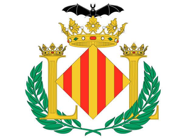 wappen der spanischen stadt valencia - alicante stock-grafiken, -clipart, -cartoons und -symbole