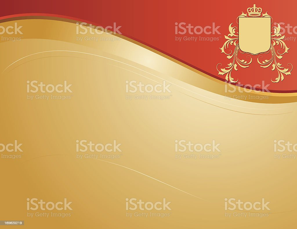 Coat of Arms Page royalty-free stock vector art