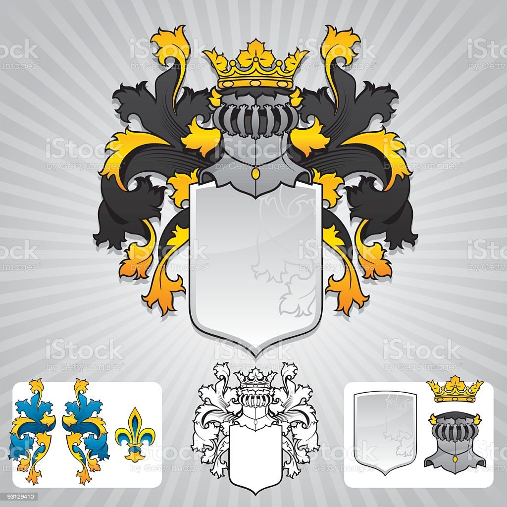 Coat of Arms symbols in different styles royalty-free coat of arms symbols in different styles stock vector art & more images of antique