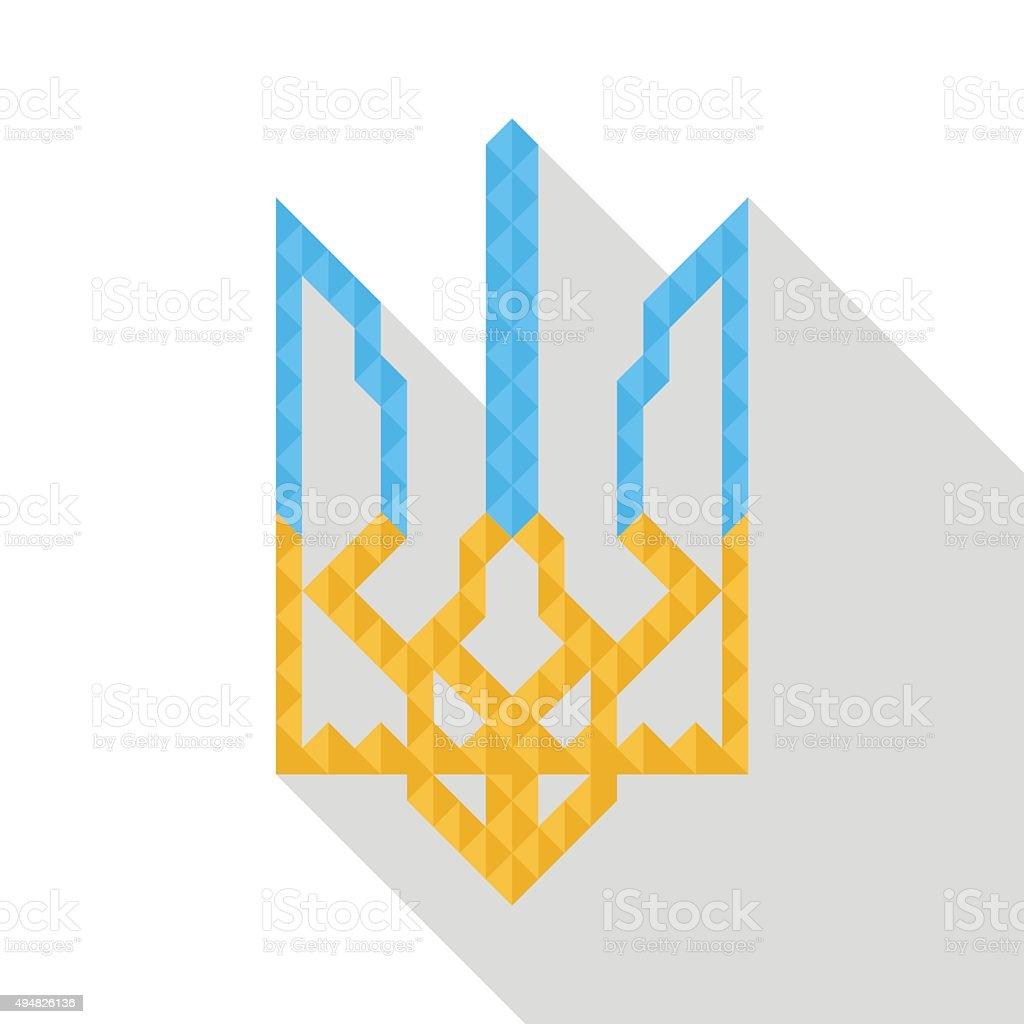 Coat of arms Ukraine vector art illustration