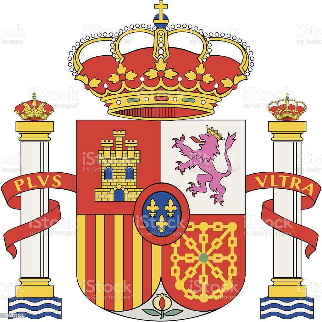 Coat of arms (Spain) royalty-free stock vector art