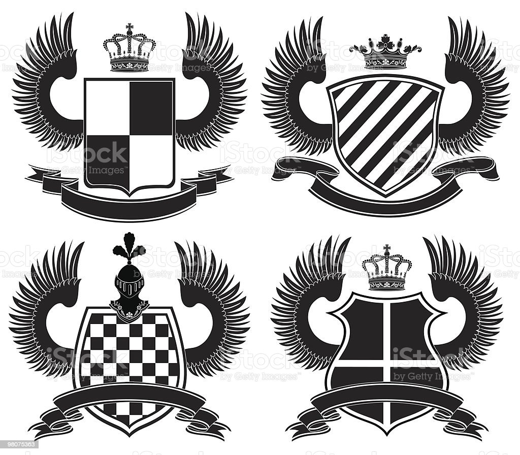 Coat of arms royalty-free coat of arms stock vector art & more images of animal wing