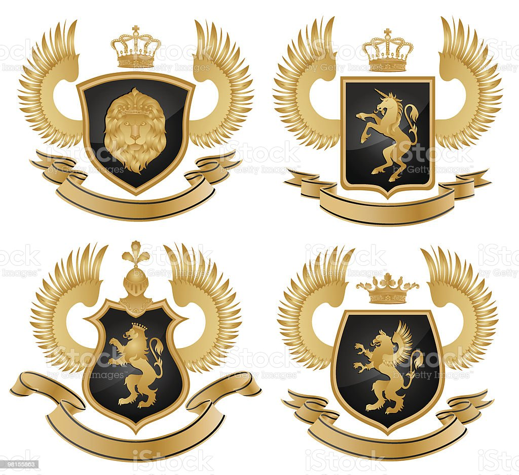 Coat of arms royalty-free coat of arms stock vector art & more images of animal