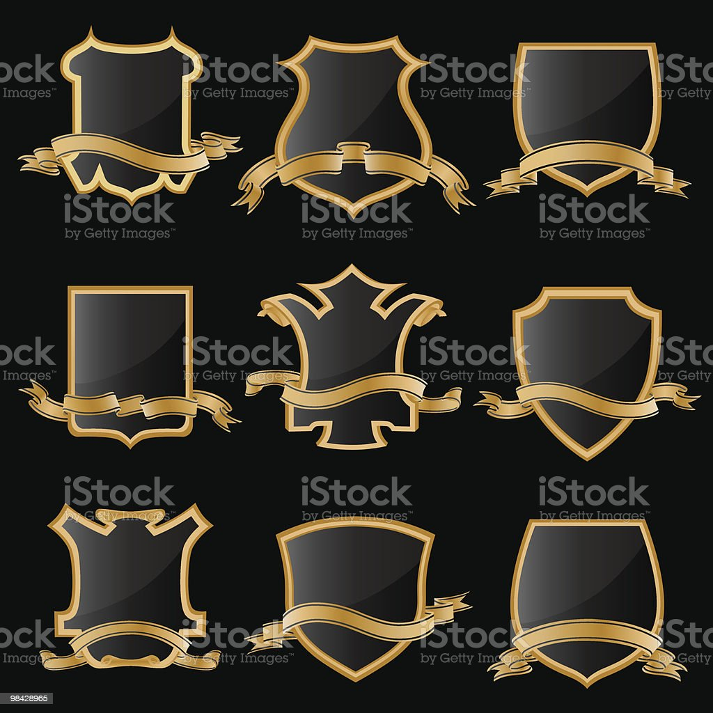 Coat of arms royalty-free coat of arms stock vector art & more images of black color