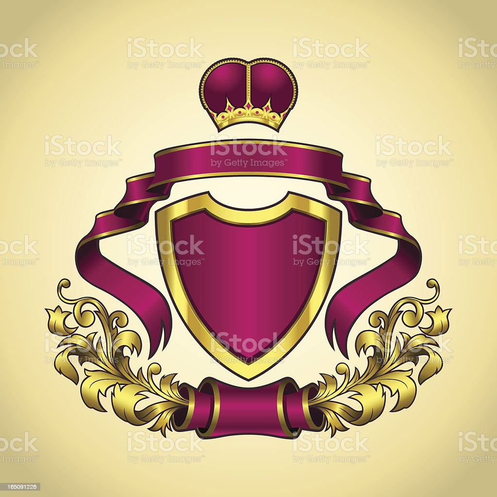 Coat_of_Arm_Violet_Gold royalty-free stock vector art