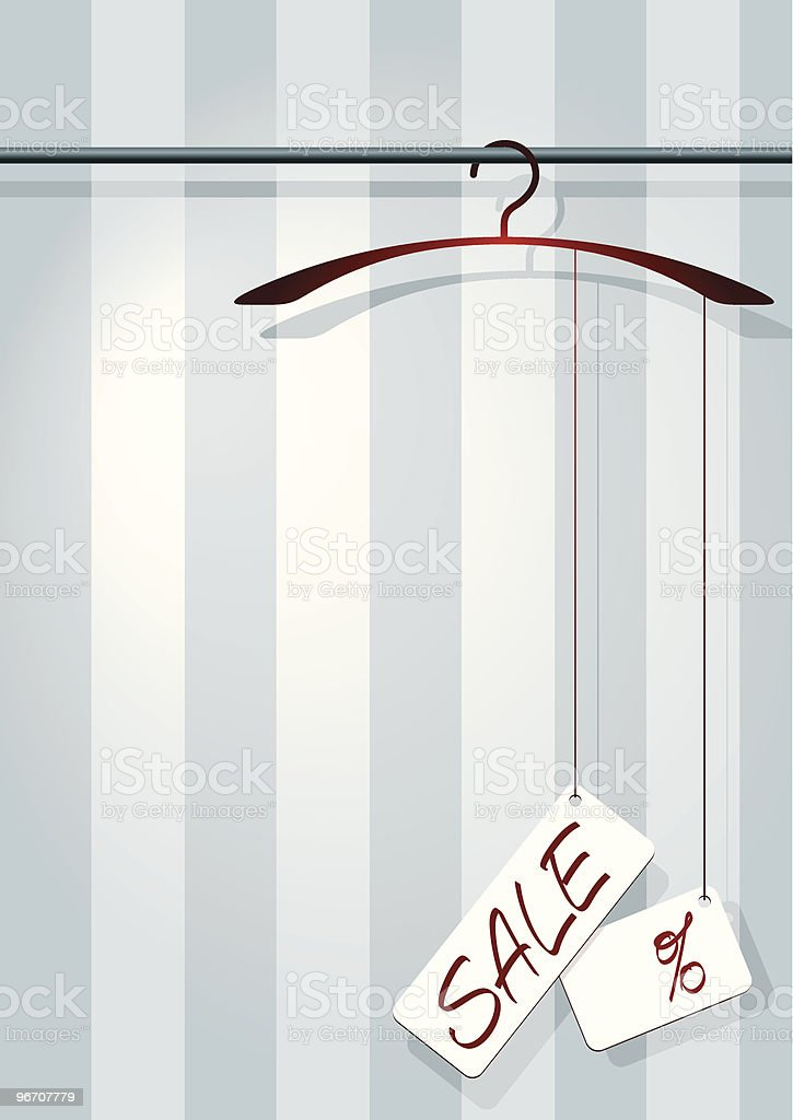 coat-hanger sale royalty-free stock vector art