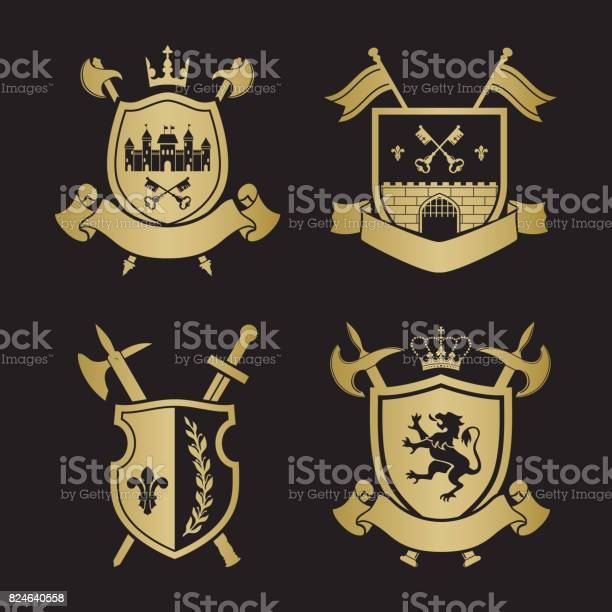 Coats of arms shields with crown town halberds at the sides vector id824640558?b=1&k=6&m=824640558&s=612x612&h=meodays8gaio3zazypvbcjhe bi tadrw8e6b8ikao4=