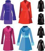 vector file of coats
