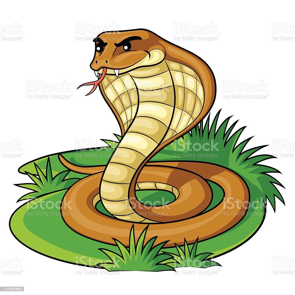 Cobra Cartoon vector art illustration