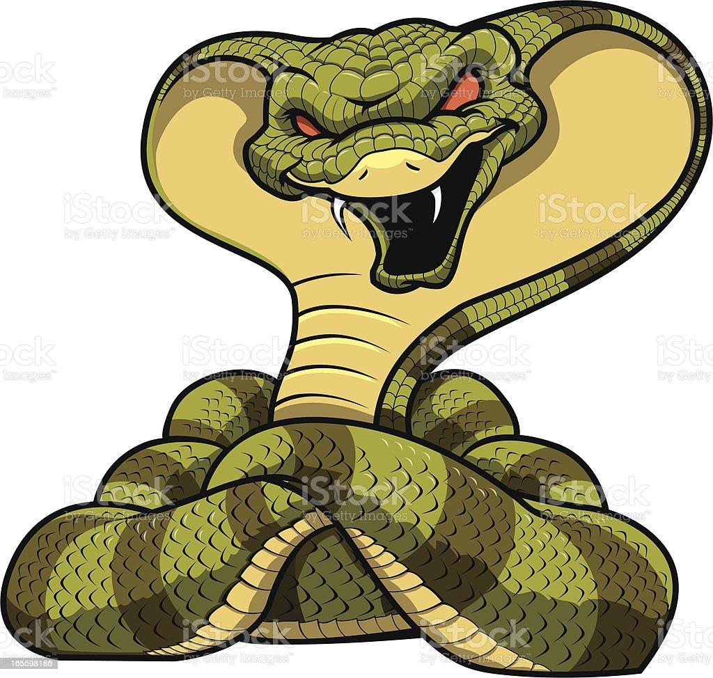 Cobra Mascot royalty-free stock vector art