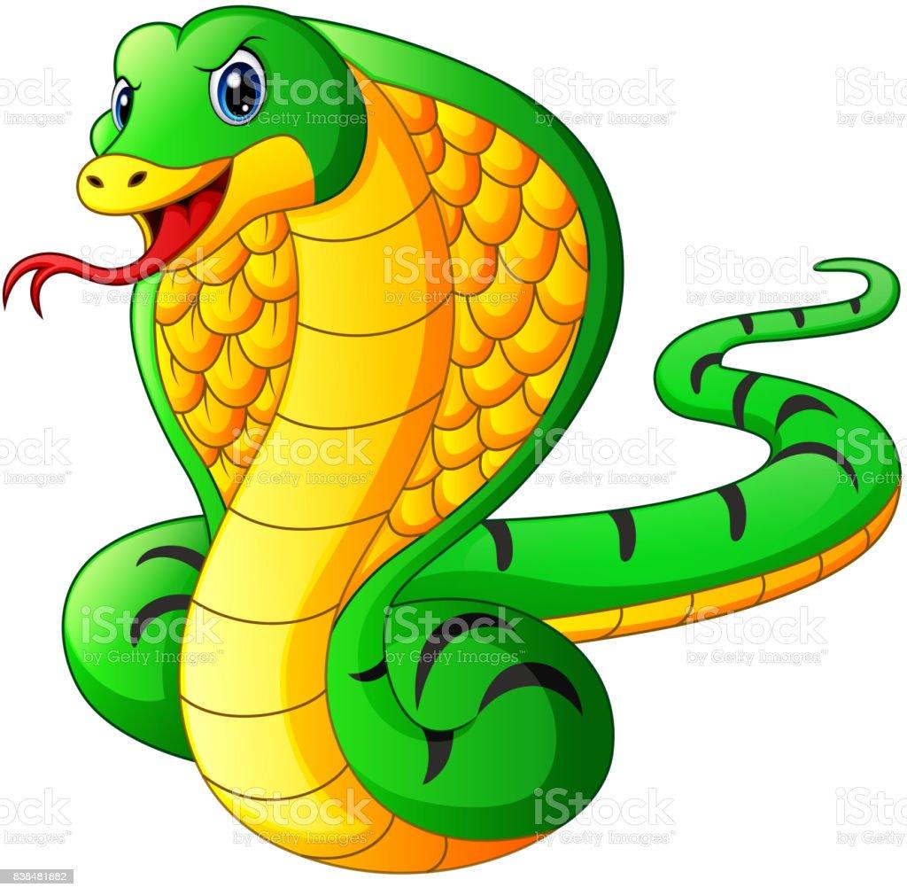 Cobra snake cartoon vector art illustration