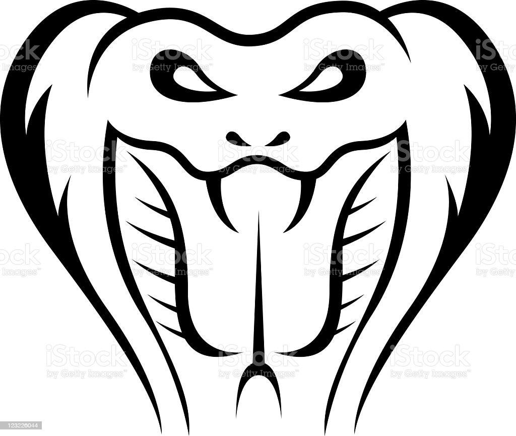 Cobra snake illustration royalty-free stock vector art