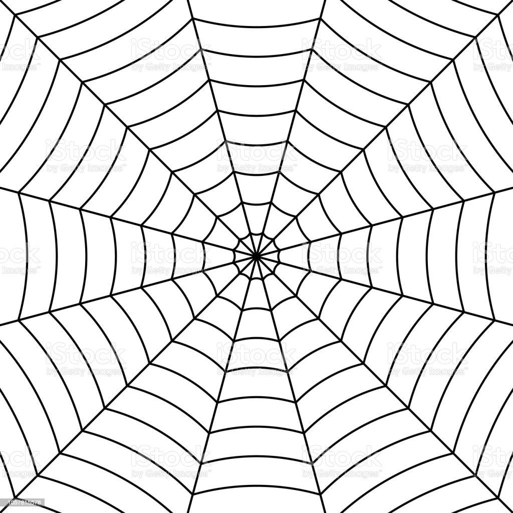 Ilustración de Fondo De Tela De Araña Con Araña Negra Hilos ...
