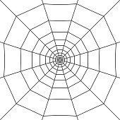 Halloween spider web. Cobweb on white background. Vector illustration