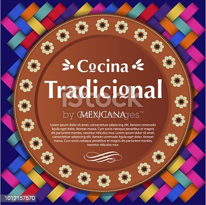istock Cocina Tradicional Mexicana (Mexican Traditional Food in spanish) Clay Plate Composition – Copy Space 1012157570
