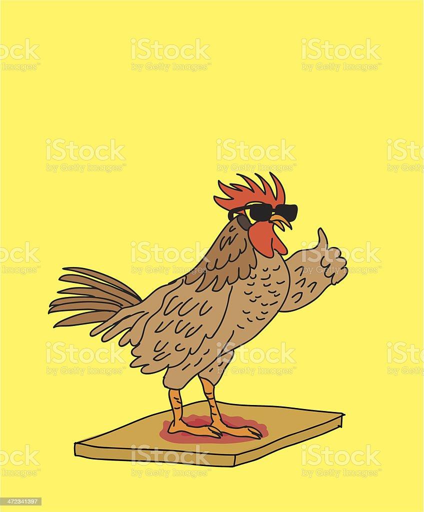 Cock Block vector art illustration