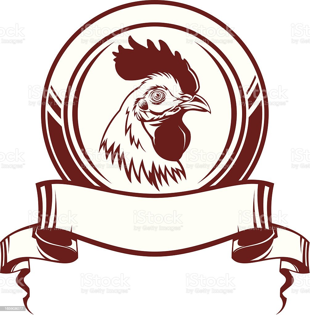 Cock emblem royalty-free cock emblem stock vector art & more images of agriculture