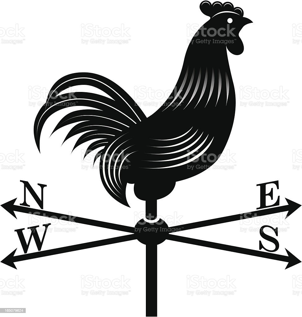Cockerel windvane vector art illustration