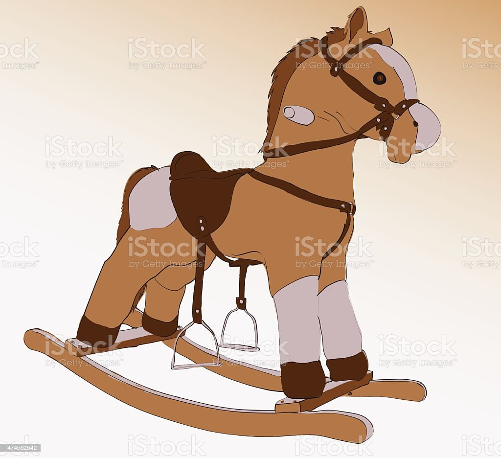 Cockhorse vector art illustration
