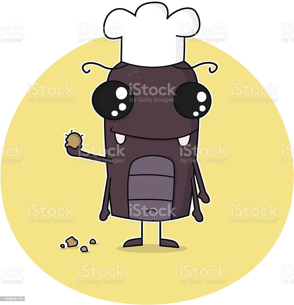 Cockroach in Kitchen royalty-free stock vector art