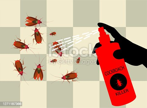 cockroach killer ,All elements are in separate layers color can be changed easily.