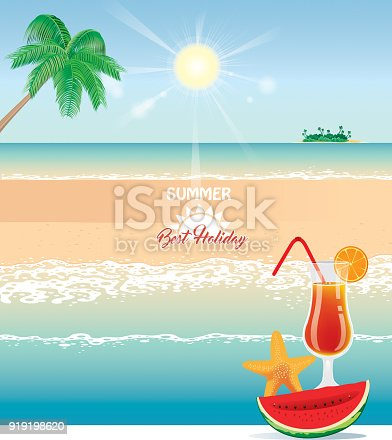 Vector Cocktail beach