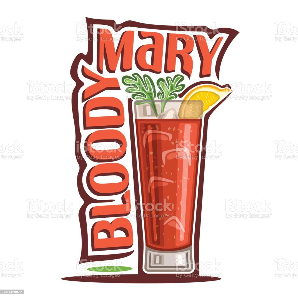 Cocktail Bloody Mary - Illustration vectorielle