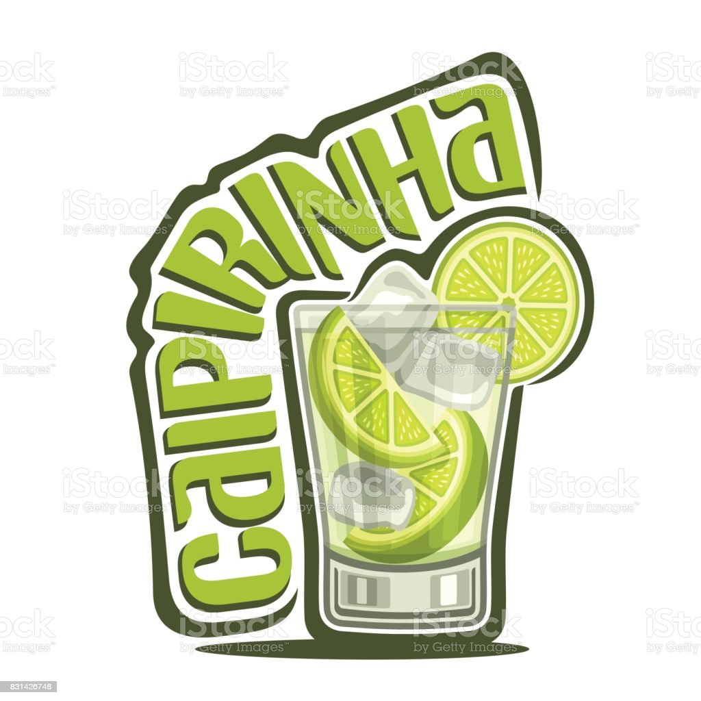 Cocktail Caipirinha vector art illustration