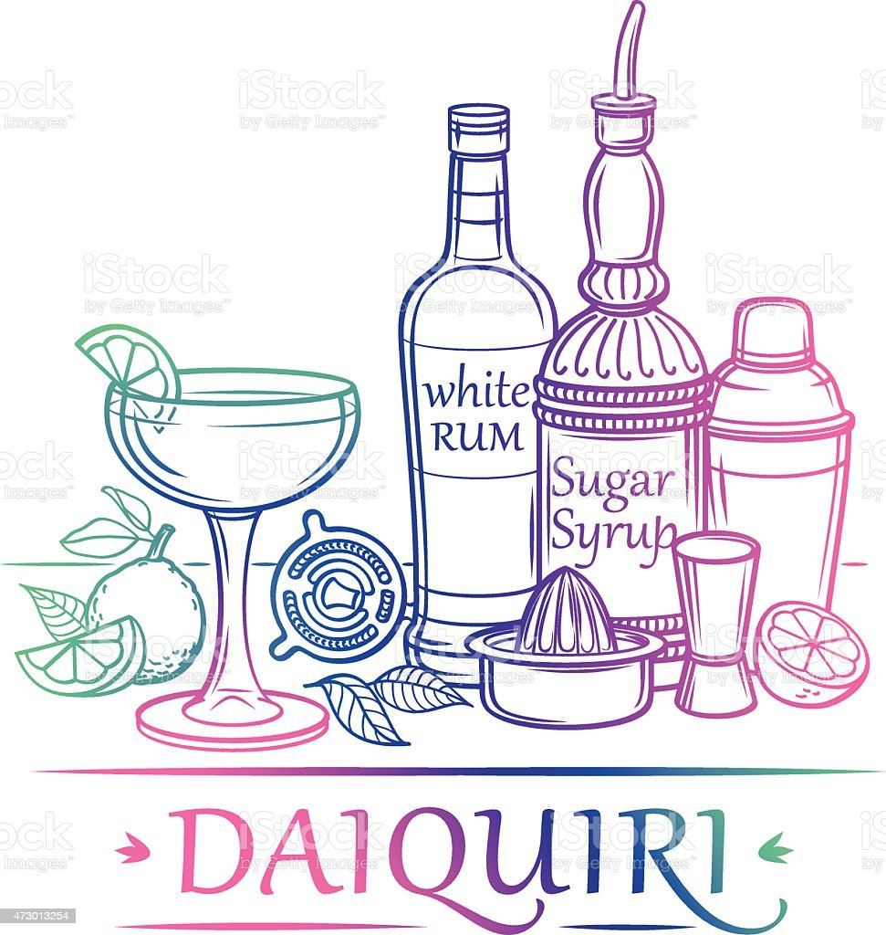 Cocktail-Daiquiri  – Vektorgrafik